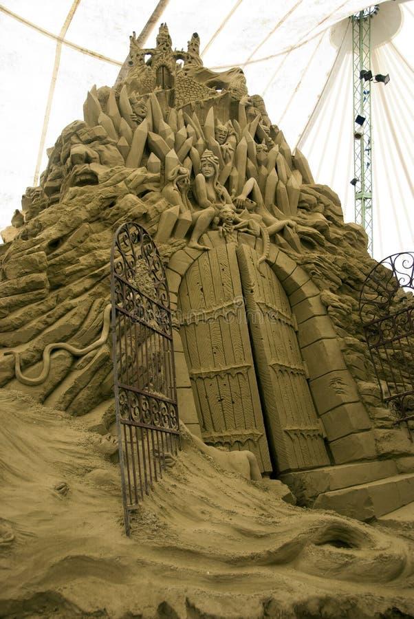 γλυπτά άμμου πόλεων DIS στοκ φωτογραφία με δικαίωμα ελεύθερης χρήσης