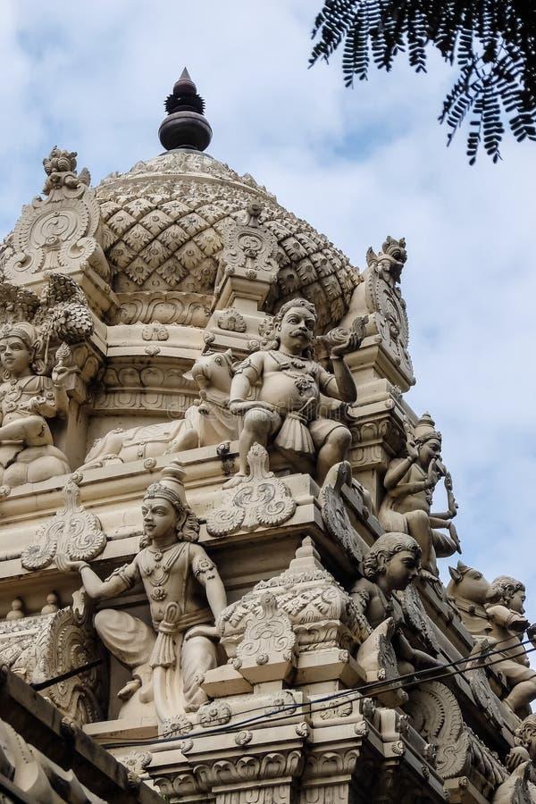 Γλυπτά στο ναό σε Tiruvannamalai, Ινδία στοκ εικόνες