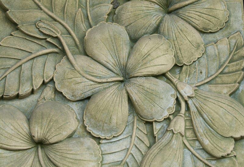 Γλυπτική λουλουδιών που διακοσμείται στοκ εικόνα με δικαίωμα ελεύθερης χρήσης