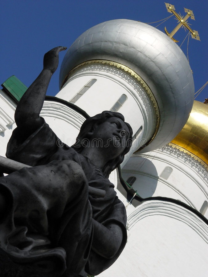 γλυπτό αγγέλου Στοκ φωτογραφία με δικαίωμα ελεύθερης χρήσης