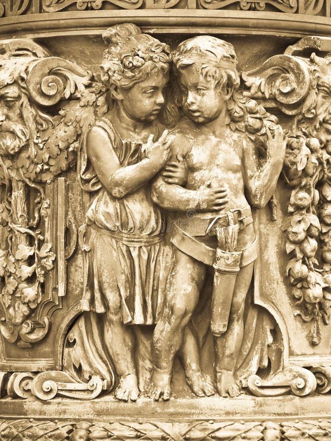 γλυπτό αρχαιοτήτων στοκ φωτογραφίες