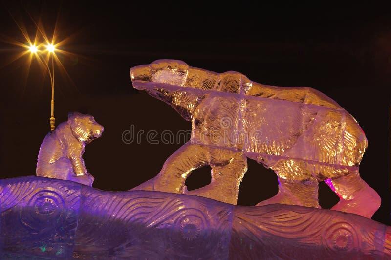 γλυπτό πάγου στοκ εικόνες με δικαίωμα ελεύθερης χρήσης