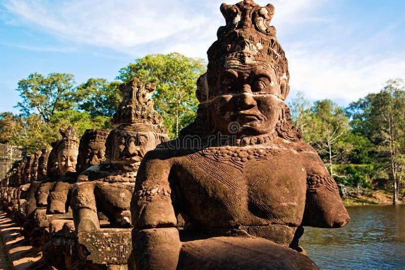 Γλυπτό σε Angkor στοκ εικόνα