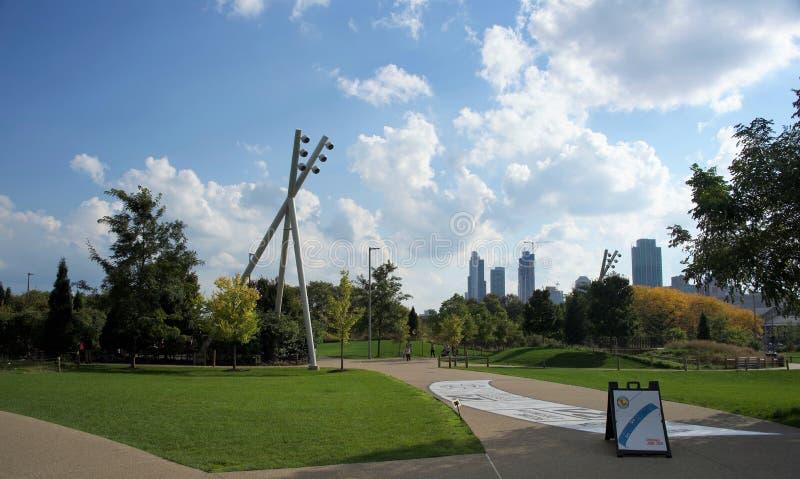 Γλυπτό Σικάγο, Ιλλινόις Millennium Park στοκ εικόνα με δικαίωμα ελεύθερης χρήσης