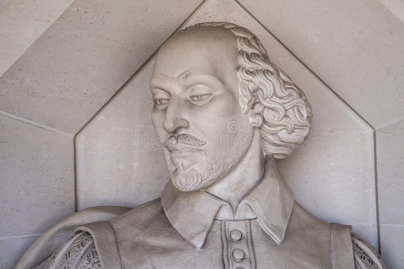 Γλυπτό του William Shakespeare στο Λονδίνο στοκ εικόνα με δικαίωμα ελεύθερης χρήσης