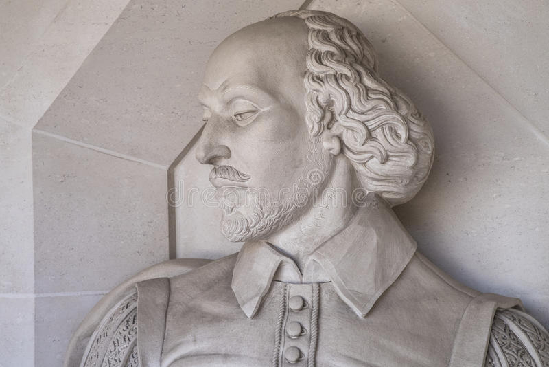 Γλυπτό του William Shakespeare στο Λονδίνο στοκ φωτογραφία