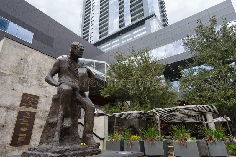 Γλυπτό χαλκού του Willie Nelson στοκ φωτογραφία με δικαίωμα ελεύθερης χρήσης