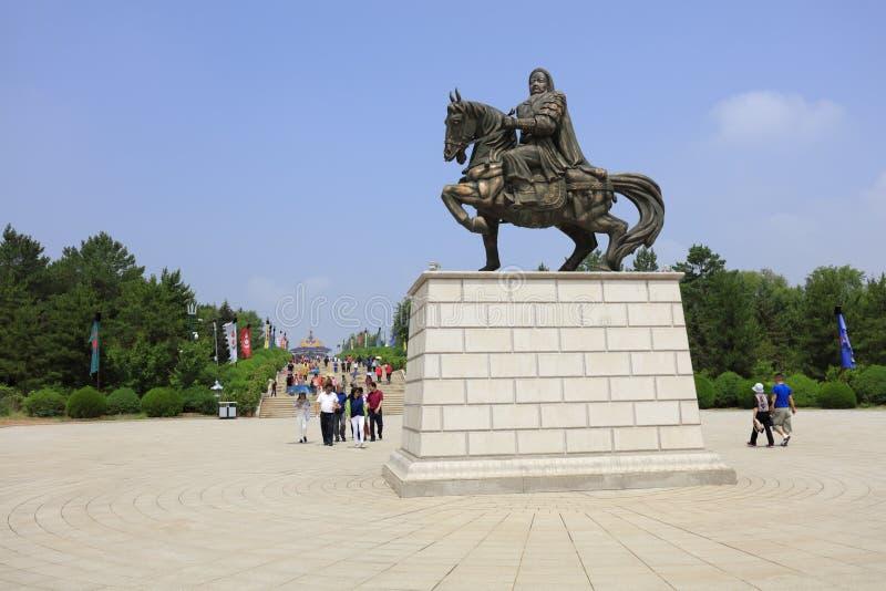 Γλυπτό χαλκού Khan Genghis, πλίθα rgb στοκ φωτογραφία με δικαίωμα ελεύθερης χρήσης