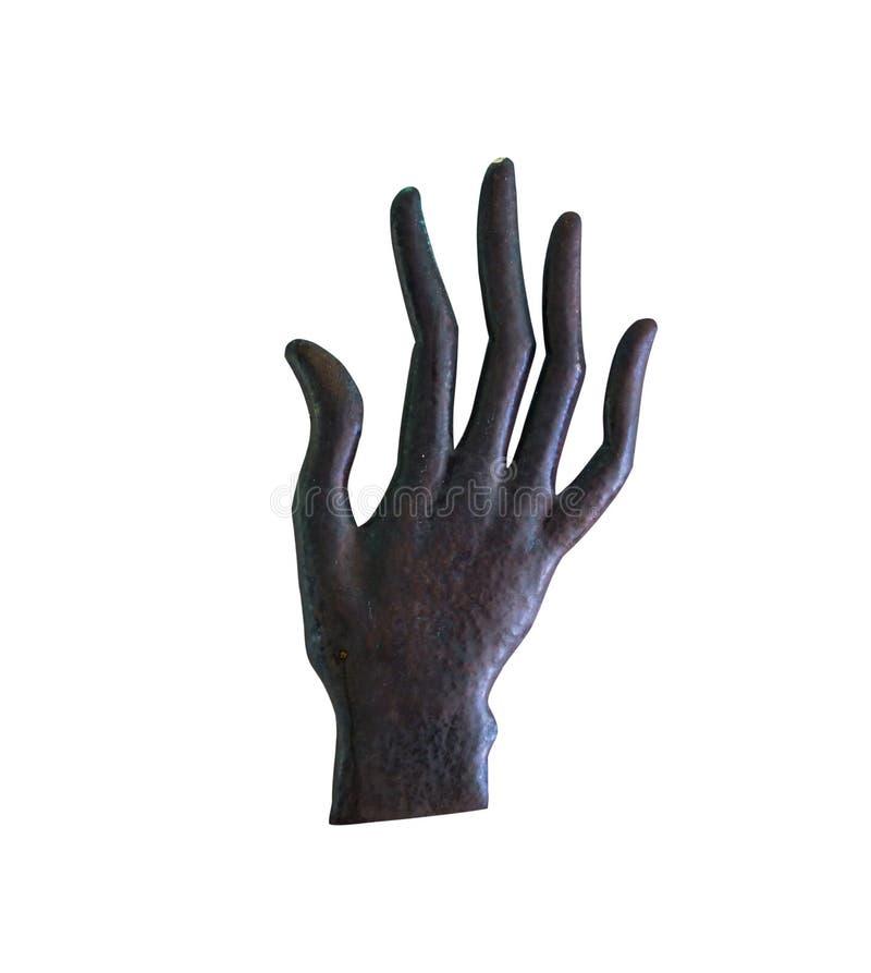 Γλυπτό χεριών, μαύρη χειρονομία χεριών στοκ εικόνα