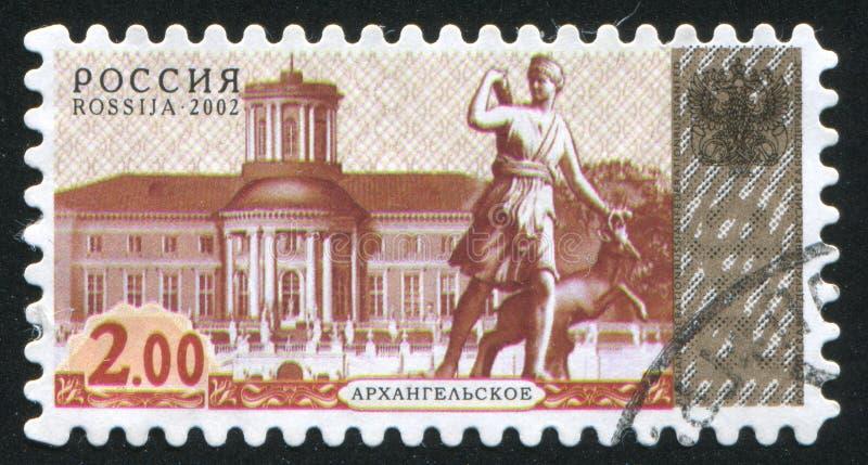 Γλυπτό Artemis με τα ελάφια στοκ εικόνα