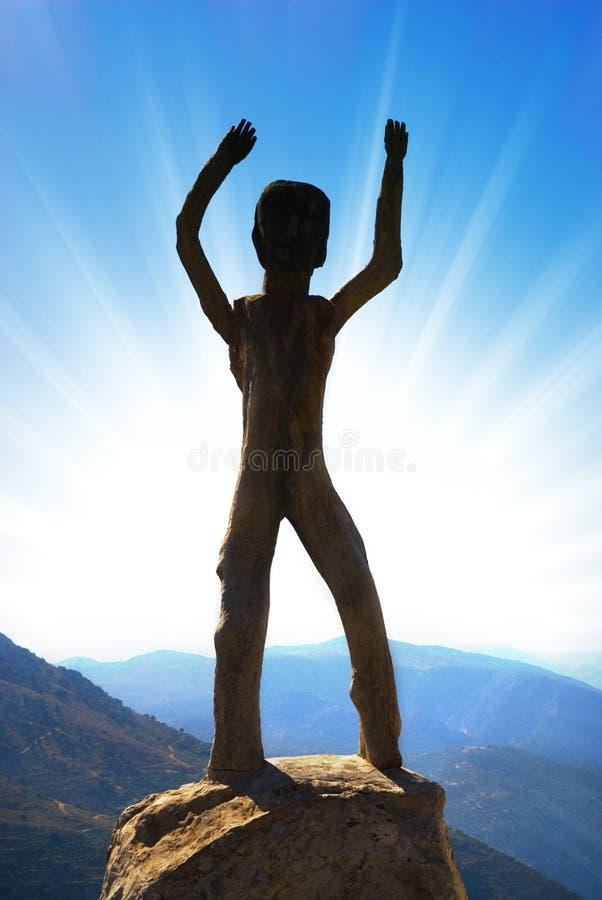 γλυπτό homo sapiens στοκ εικόνα με δικαίωμα ελεύθερης χρήσης