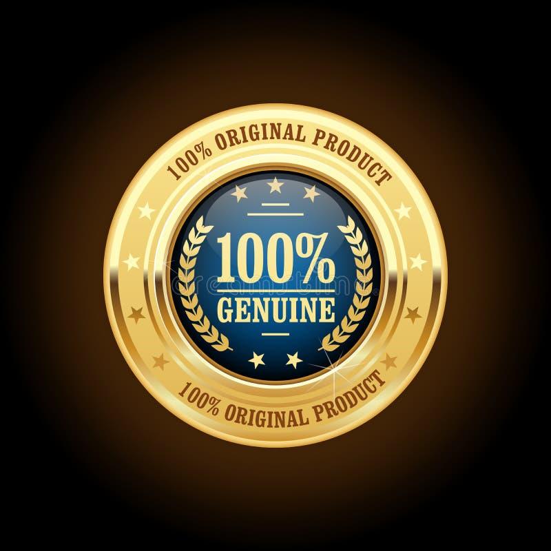 Γνήσια, αρχικά χρυσά διακριτικά προϊόντων διανυσματική απεικόνιση