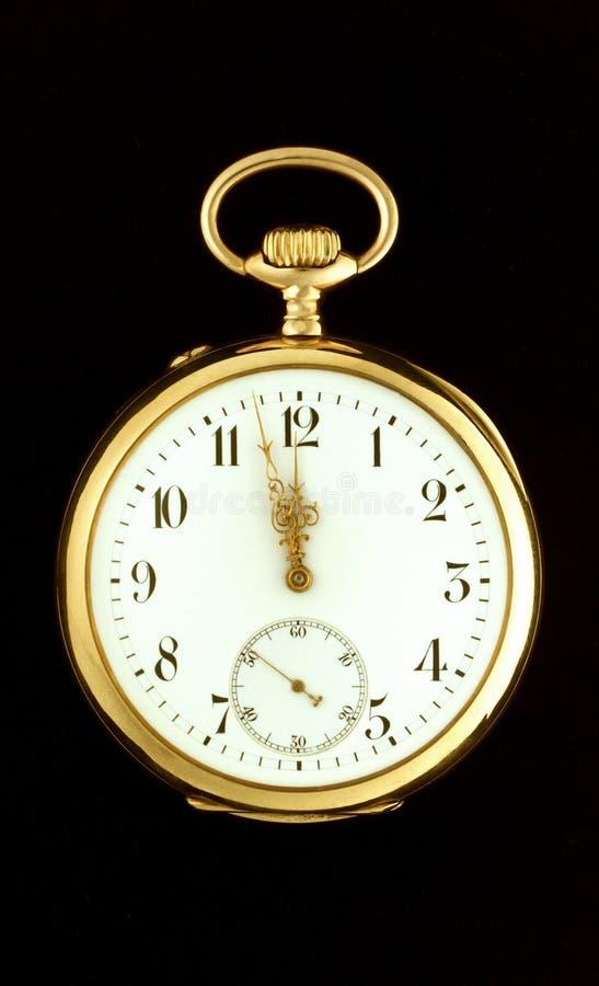 Γνήσιο παλαιό ρολόι τσεπών στοκ φωτογραφίες με δικαίωμα ελεύθερης χρήσης