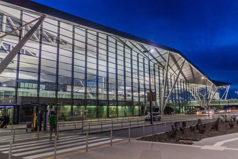 ΓΝΤΑΝΣΚ, ΠΟΛΩΝΙΑ - 2 ΣΕΠΤΕΜΒΡΊΟΥ 2016: Αερολιμένας του Lech Walesa Γντανσκ, Polan στοκ εικόνες