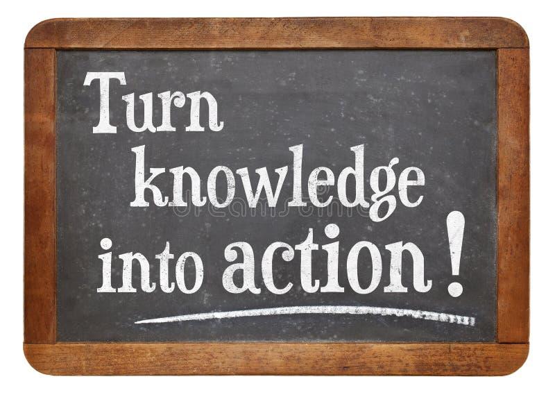 Γνώση στροφής στη δράση στοκ εικόνα με δικαίωμα ελεύθερης χρήσης