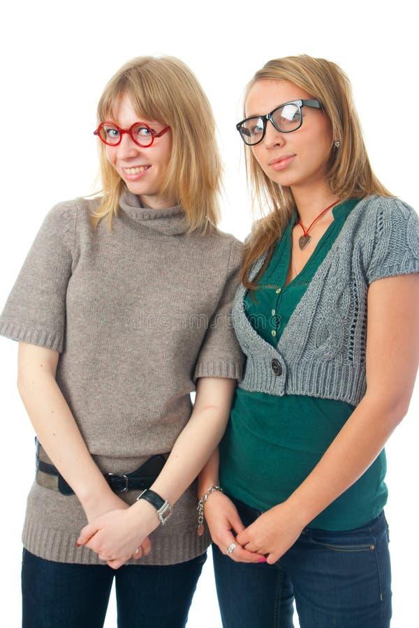 γοητεία κοριτσιών δύο νε&omi στοκ φωτογραφία