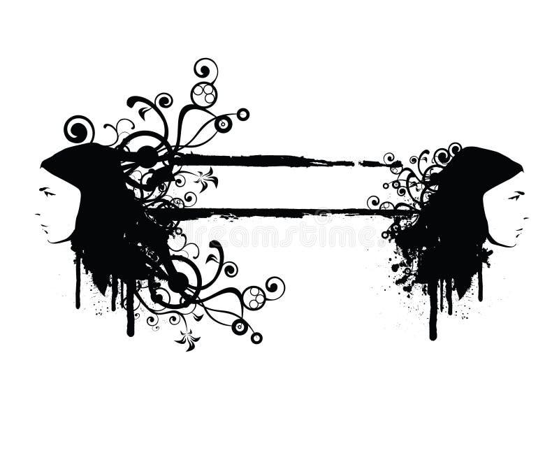 Download γοητεία grunge απεικόνιση αποθεμάτων. εικονογραφία από φύλλα - 2227339
