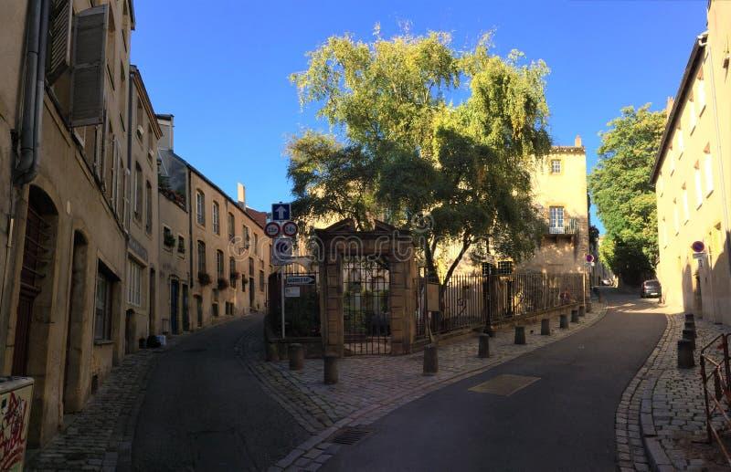 Γοητευτικές οδοί του Μετς Γαλλία στοκ εικόνες