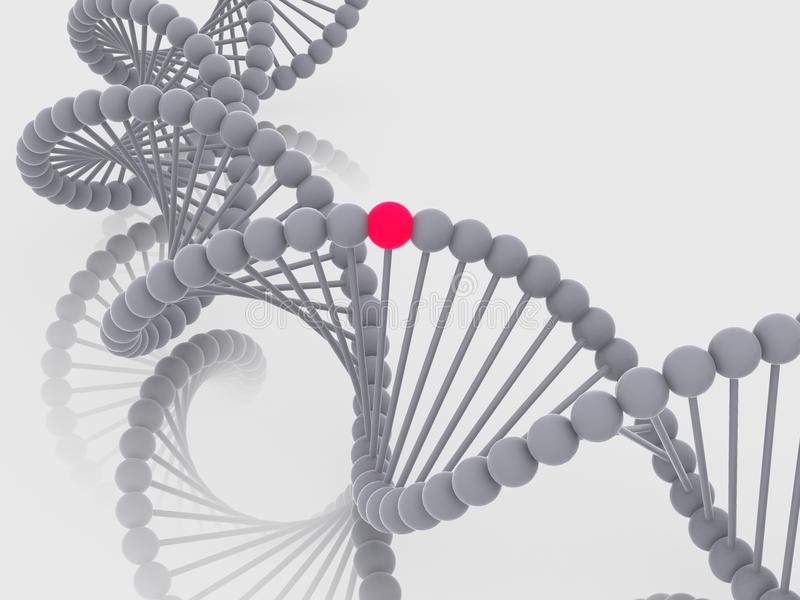 γονίδιο DNA διανυσματική απεικόνιση