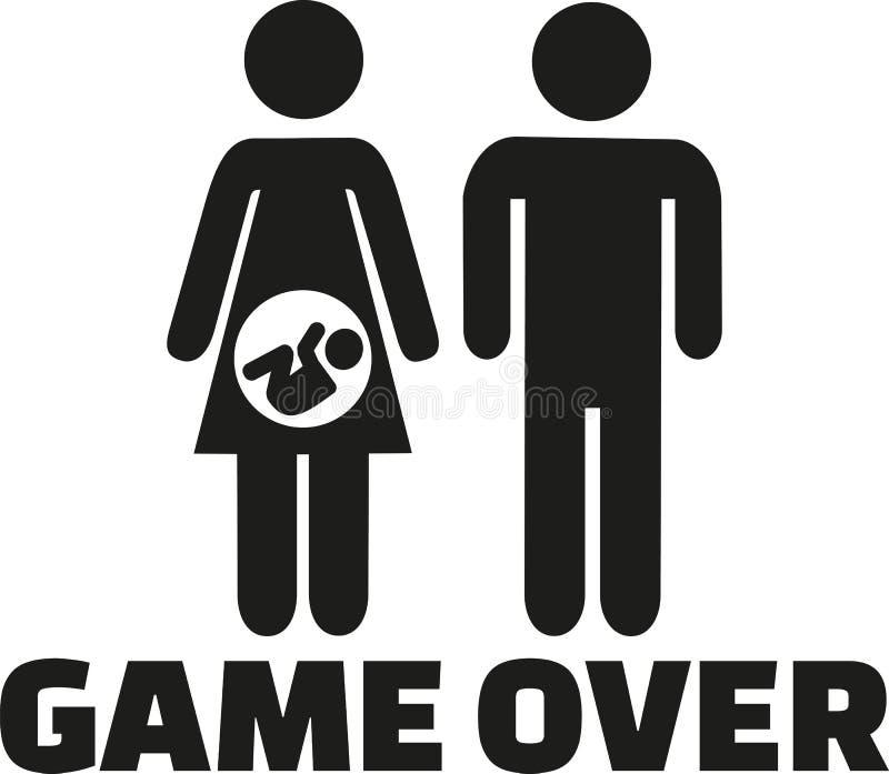 Γονείς ζευγών παιχνιδιών πέρα έγκυοι για να είναι ελεύθερη απεικόνιση δικαιώματος