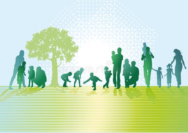Γονείς και παιδιά απεικόνιση αποθεμάτων