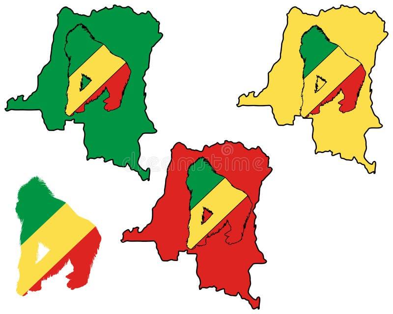γορίλλας του Κογκό απεικόνιση αποθεμάτων