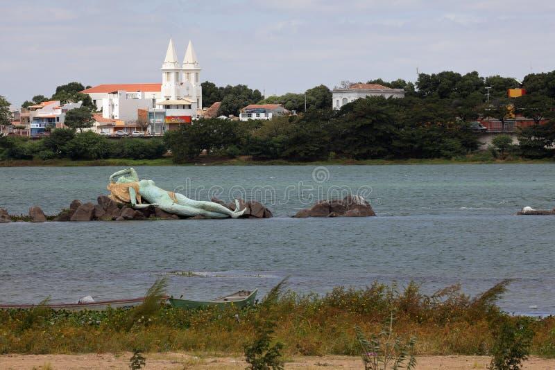 Γοργόνα και ορίζοντας Petrolina και Juazeiro στη Βραζιλία στοκ φωτογραφία με δικαίωμα ελεύθερης χρήσης