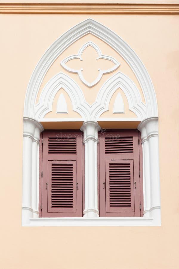 γοτθικά Windows ύφους στοκ εικόνα