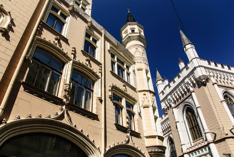 Γοτθική μεγάλη συντεχνία, Ρήγα, Λετονία στοκ εικόνα με δικαίωμα ελεύθερης χρήσης