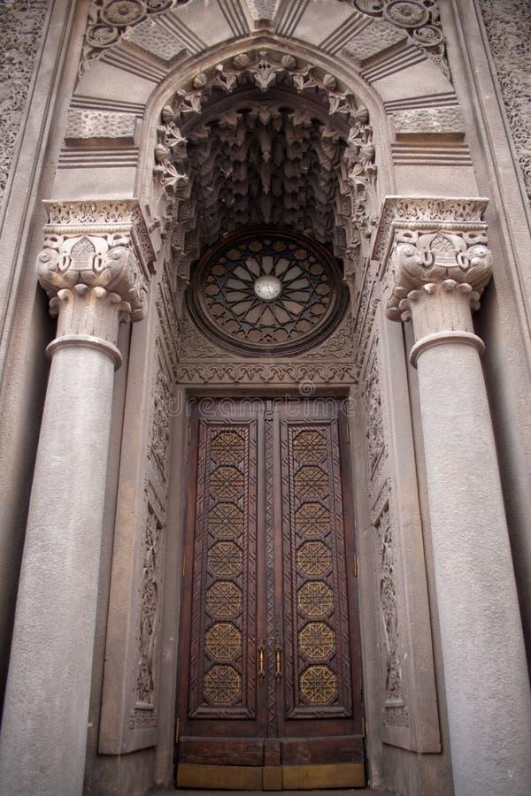 γοτθικός παλαιός πορτών στοκ εικόνες