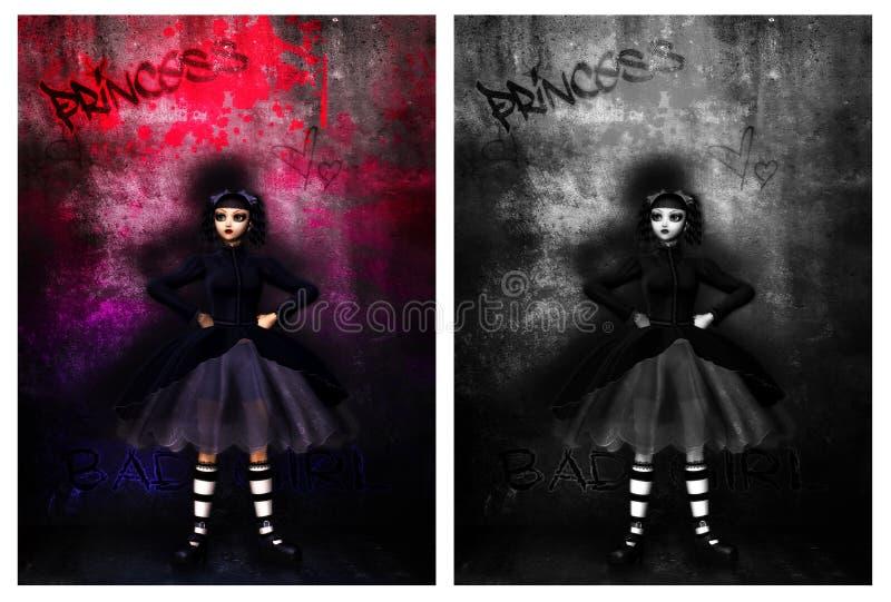 Γοτθικό κορίτσι διανυσματική απεικόνιση