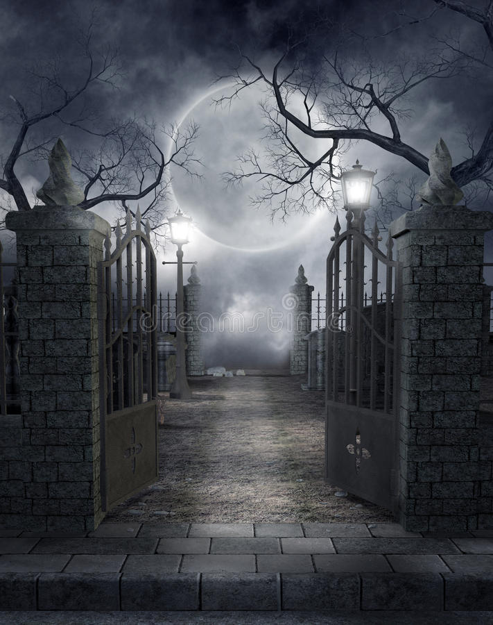 γοτθικό νεκροταφείο 3 ελεύθερη απεικόνιση δικαιώματος