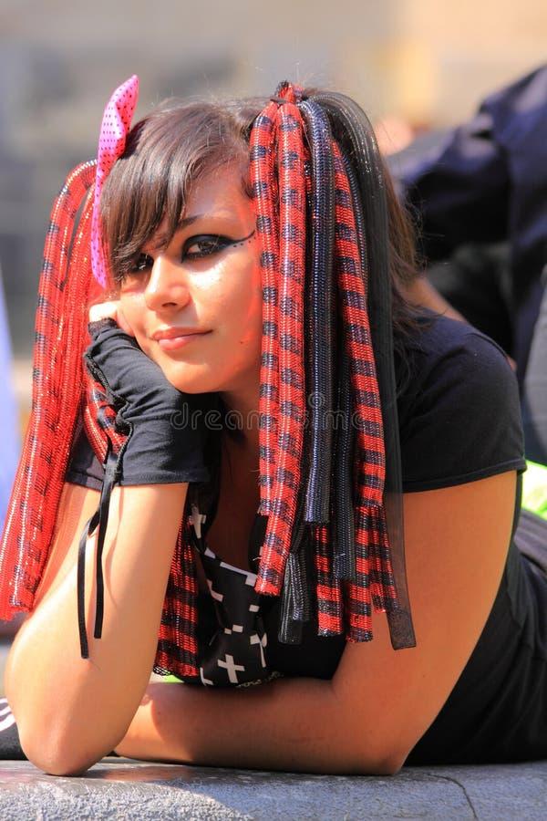 γοτθικό πορτρέτο κοριτσ&iot στοκ φωτογραφίες