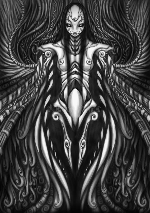 γοτθικό mecha στροβίλου διανυσματική απεικόνιση