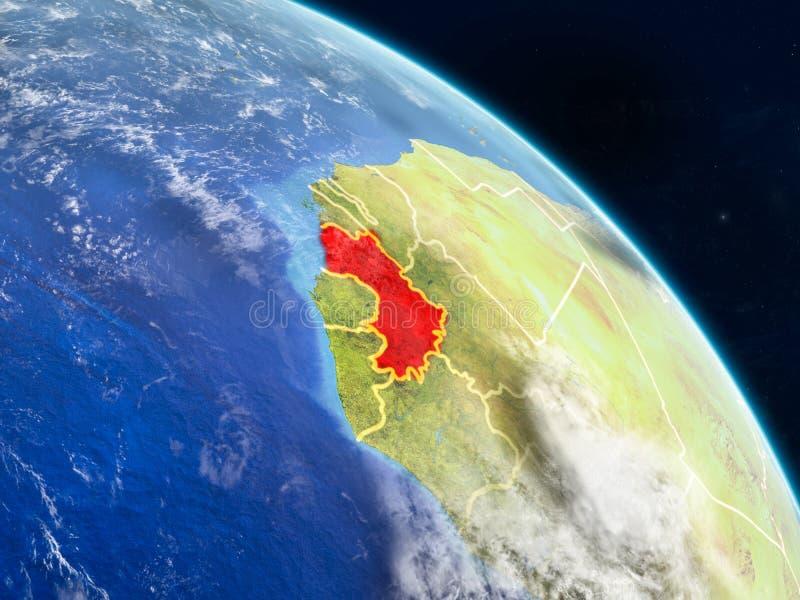 Γουινέα από το διάστημα διανυσματική απεικόνιση