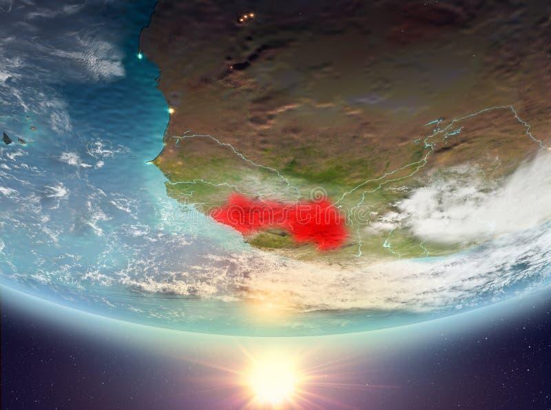 Γουινέα με τον ήλιο απεικόνιση αποθεμάτων