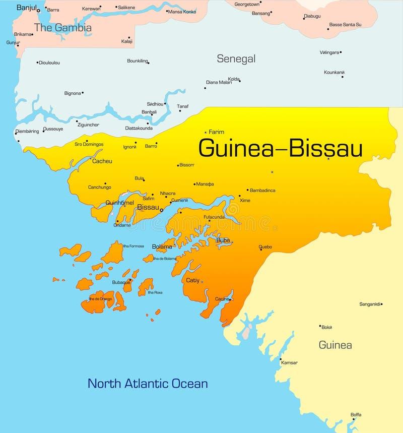 Γουινέα-Μπισσάου διανυσματική απεικόνιση