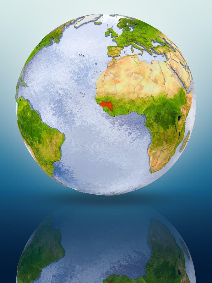 Γουινέα στη σφαίρα διανυσματική απεικόνιση