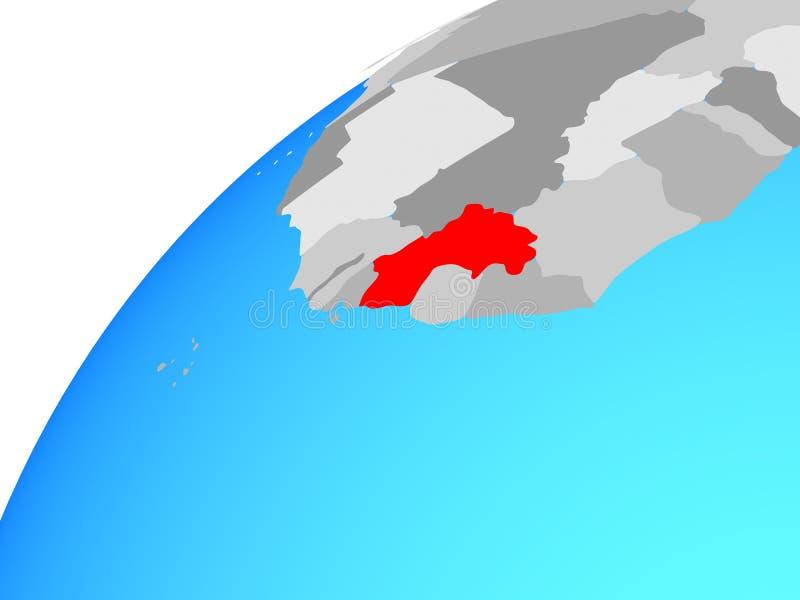 Γουινέα στη σφαίρα απεικόνιση αποθεμάτων