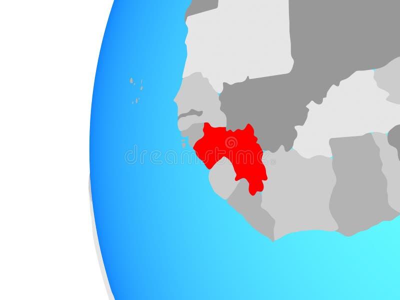 Γουινέα στη σφαίρα ελεύθερη απεικόνιση δικαιώματος