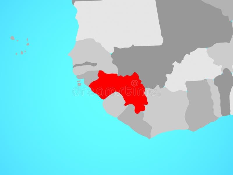 Γουινέα στο χάρτη ελεύθερη απεικόνιση δικαιώματος