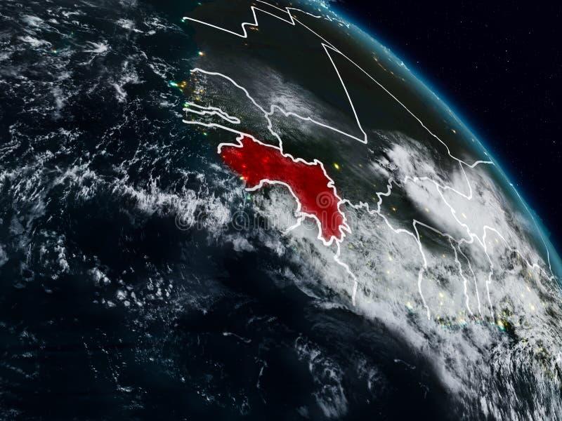 Γουινέα τη νύχτα διανυσματική απεικόνιση