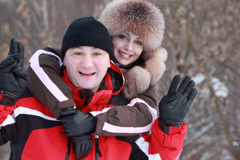 γούνα ΚΑΠ η γυναίκα συζύγ&om στοκ φωτογραφία με δικαίωμα ελεύθερης χρήσης