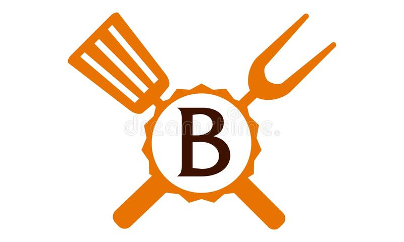 Γράμμα Β εστιατορίων λογότυπων απεικόνιση αποθεμάτων