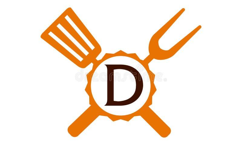 Γράμμα Δ εστιατορίων λογότυπων απεικόνιση αποθεμάτων