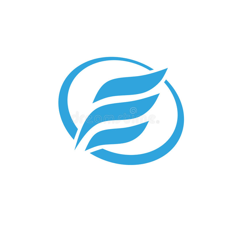 Γράμμα Ε με το λογότυπο κύκλων διανυσματική απεικόνιση