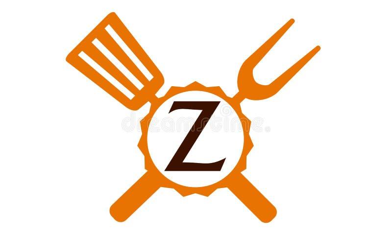 Γράμμα Ζ εστιατορίων λογότυπων διανυσματική απεικόνιση
