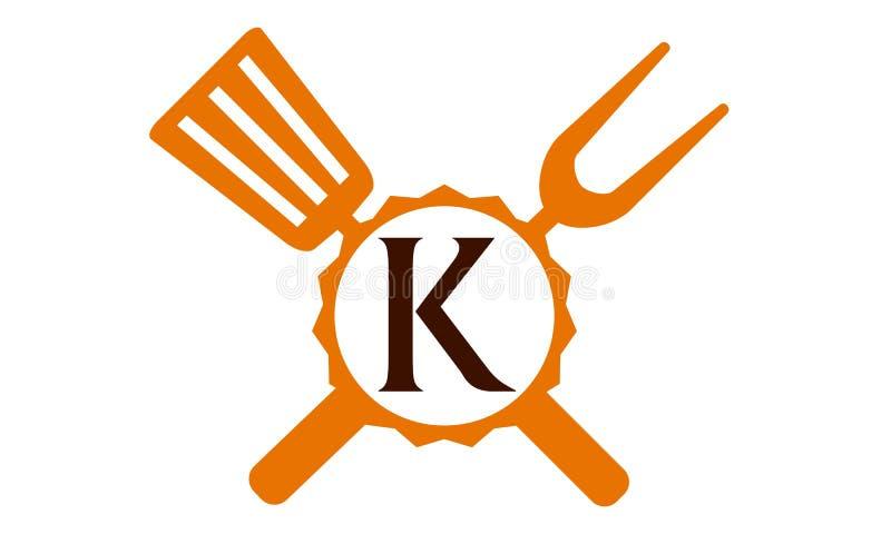 Γράμμα Κ εστιατορίων λογότυπων ελεύθερη απεικόνιση δικαιώματος