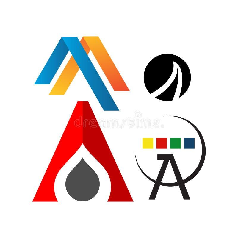 Γράμμα A Λογότυπα ένα σύγχρονο τριγωνικό λογότυπο στοκ εικόνα με δικαίωμα ελεύθερης χρήσης