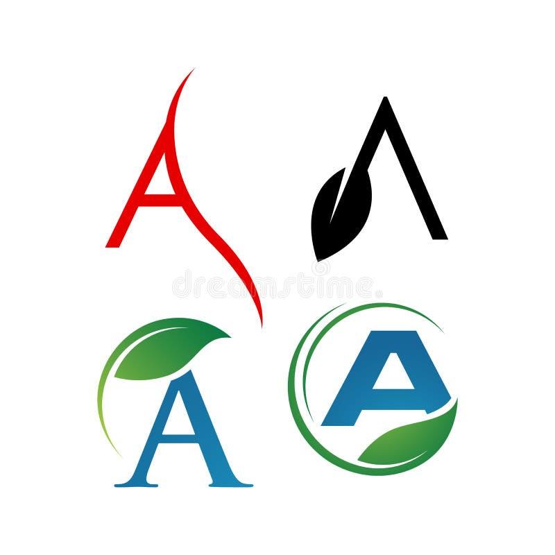 Γράμμα A Λογότυπα ένα σύγχρονο τριγωνικό λογότυπο στοκ εικόνες